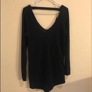 Black long sleeve Roxy dress